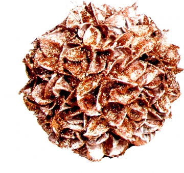 Baumwollfrucht Kugel gewachst in Kupfer Glitter ( Ø 14cm )