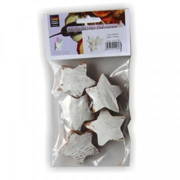 Cocosstern in Weiß / Natur im Polybeutel ( 5 Stück )