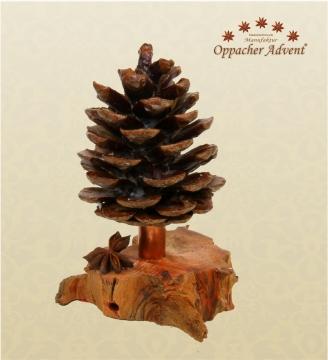Oppacher Räucherbaum / Räuchermännchen Natur gewachst ( Größe des Baumes ca. 15x10cm )