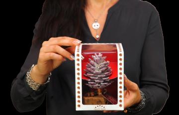 Oppacher Räucherbaum / Räuchermännchen Brombeer mit Glitter ( Größe des Baumes ca. 15x10cm )