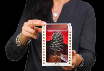 Oppacher Räucherbaum / Räuchermännchen Mocca Grey gewachst  ( Größe des Baumes ca. 15x10cm )