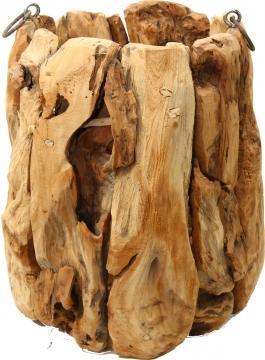 Wurzelholz Topf mit Henkel ca. 24cm hoch / Ø 15cm in Natur