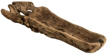 Wurzelholz Schale ca. 60cm lang in Natur