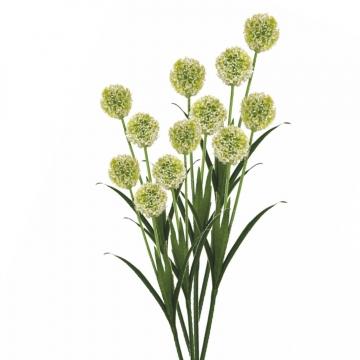 Allium / Zierlauch mit Stiel in Weiß ( Kopfgröße ca. 10cm )