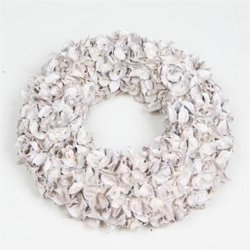 Baumwollfrucht Kranz gewachst in Creme Weiß