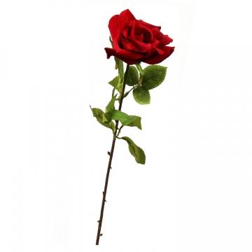 Schaumrose Klein mit Stiel Rot ( 6cm - Btl. mit 24 Stück ) (30 Stück)