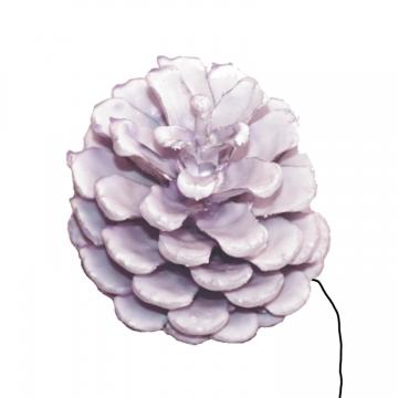 Schwarzkiefer Zapfen am Draht gewachst in Viola Ice (240 Stück)