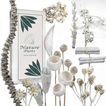 Sortiment Einzelteile gewachst in Glitter Weiß ( 55 teilig )