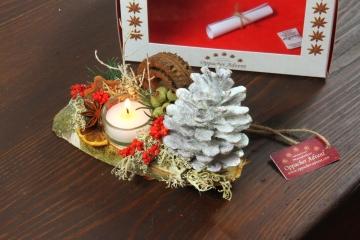 Oppacher Kerzen-Tischgesteck Classic in Creme weiß