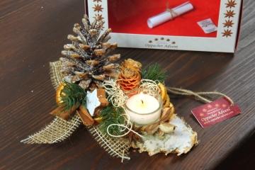 Oppacher Kerzen-Tischgesteck classic in natur