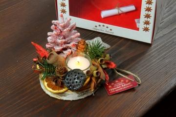 Oppacher Kerzen-Tischgesteck Deluxe in rot II