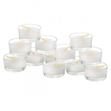 12 Teelichter im Glas Ø Außen 45mm / H 26mm Teelichthalter Sicherheitsteelichter  (12 Stück)