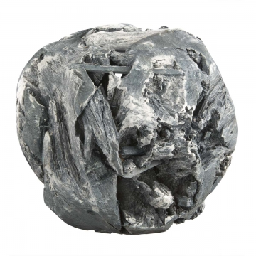 Wurzelholz Kugel Ø 14cm in Frosted Blackwashed (4 Stück)