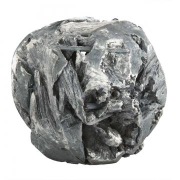 Wurzelholz Kugel Ø 28cm in Frosted Blackwashed (2 Stück)