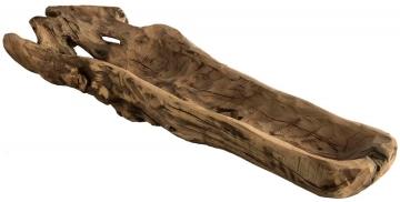 Wurzelholz Schale ca. 60cm lang in Natur   (4 Stück)