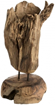 Wurzelholz Vase mit Ständer klein ca. 35cm hoch in Natur   (2 Stück)
